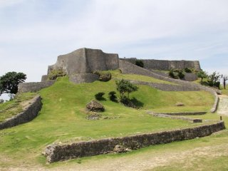The lower 4th Enclosure of Katsuren Castle Ruins is not as restored as the fully walled enclosures above it