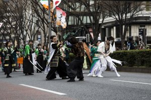 A robust display of agile sword fight was one of the highlights of the parade