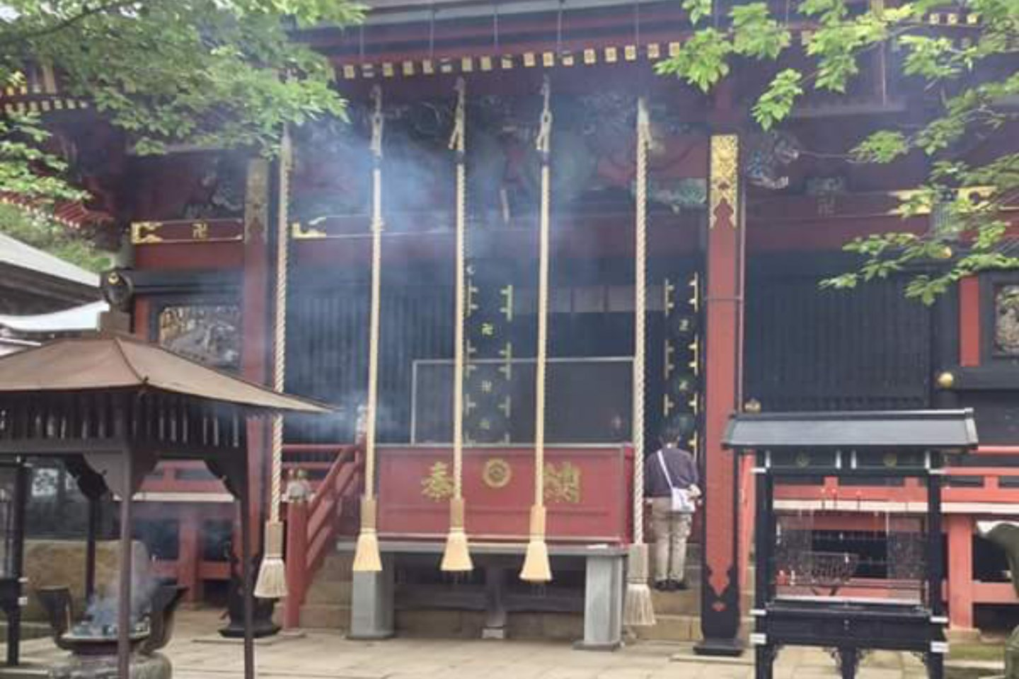 The main temple in which the monks chant sutra\'s daily