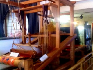 Treasured Looms at the Nishijin Textile Center about 30 mins north west of Kyoto
