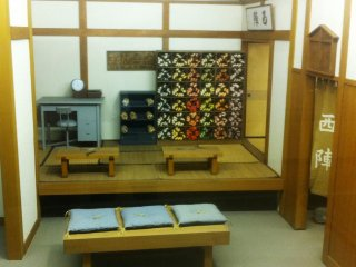 Old Shop Display at the Nishijin Textile Center about 30 mins north west of Kyoto