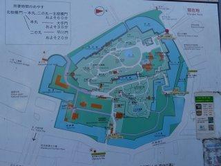แผนที่ของสวน