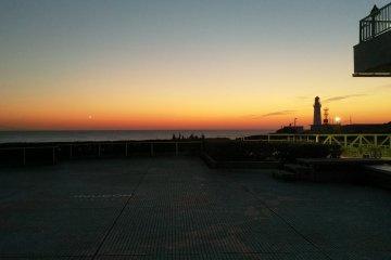 Just before sunrise at Inubosaki Hotel