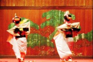 Swirling dancers of Kumamoto