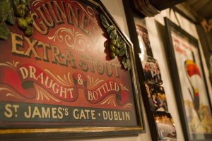 Old signs given to Sam by a Guinness employee