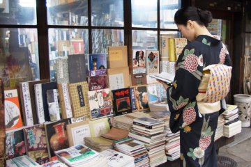 <p>The old book shops around Teramachi are a short bike ride away from the boutique Hotel Kanra in Gojo Karasuma Central Kyoto</p>