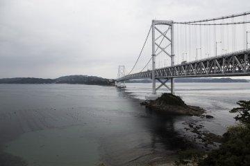 Onaruto bridge in the distance