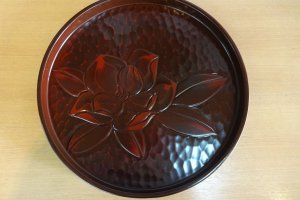 Carved tray with lacquer cover