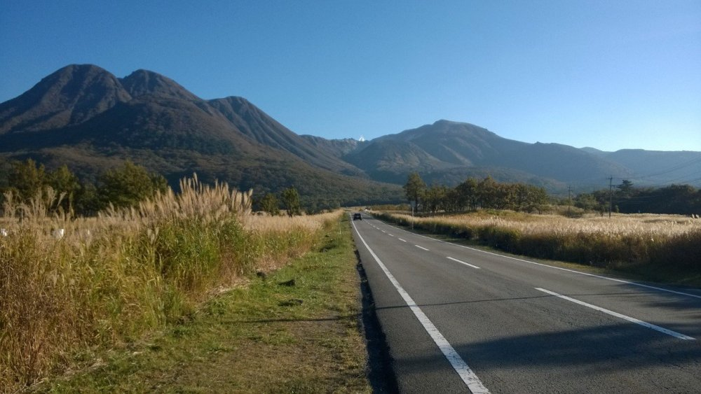 Route 11, popularly known as the Yamanami Highway, runs through the Kuju mountain range