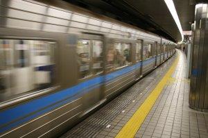 Speeding to it's next stop, Nagoya's Tsuruma Line