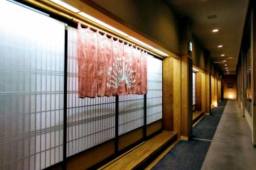 Passage leading to another building, where the hot spring bath is located