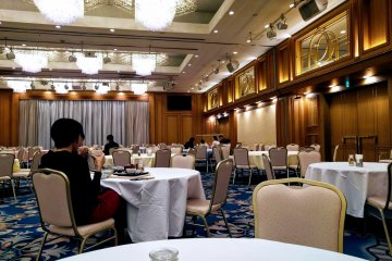 Large dining room used for breakfast