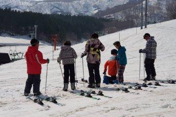บนลานสกีของแกรนด์ ฮิระฟุ