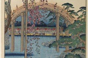 "Hiroshige's ""Kameido-tenjin Keidai"""