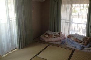 There is a Japanese-style dorm, as well as a western one with bunks.