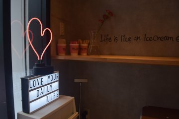Fun quotes adorn the store walls!