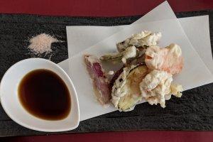 La pâte des tempura est vegan ici !