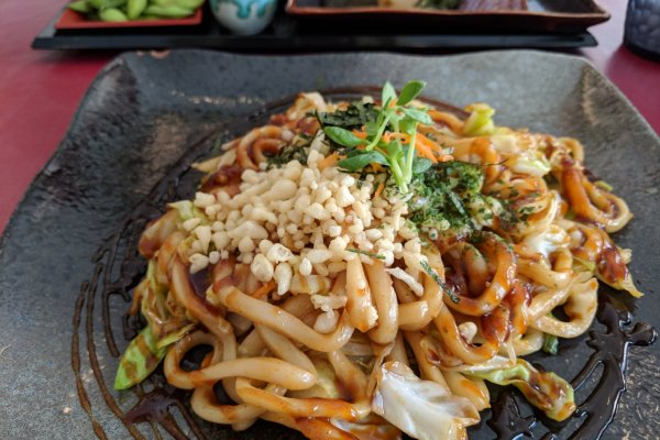 Hiroshima Yakiudon, packed with vegetables
