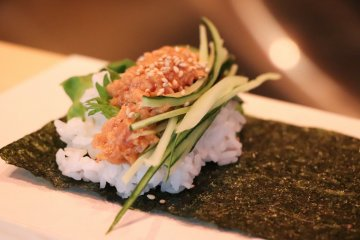 Spicy tuna, one of the most popular dishes.