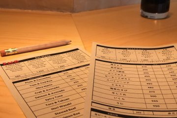 The menu has an easy-to-order system.