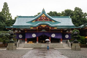 Hie Shrine on a Rainy Day