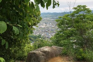 The view of Asakuchi from Kamoyama Castle ruins