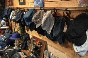 There aren't many souvenir shops in Asakuchi, but the the denim goods at It's a Beautiful Day will amaze the imagination