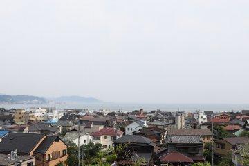 Ocean view of Kamakura from Hase-dera Temple.