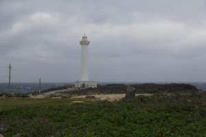 The lighthouse at Cape Zanpa and the surrounding park is a popular destination