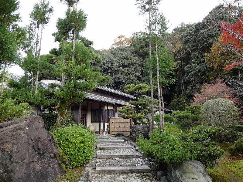 <p>Stone walkway to Japanese style rooms.</p>