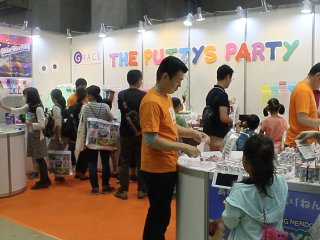 The Putty's Party booth provided a variety of goo and slimy experiences for kids.