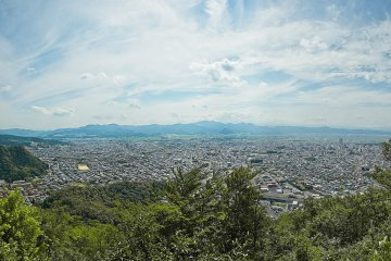 The view over Yamagata from Chitoseyama