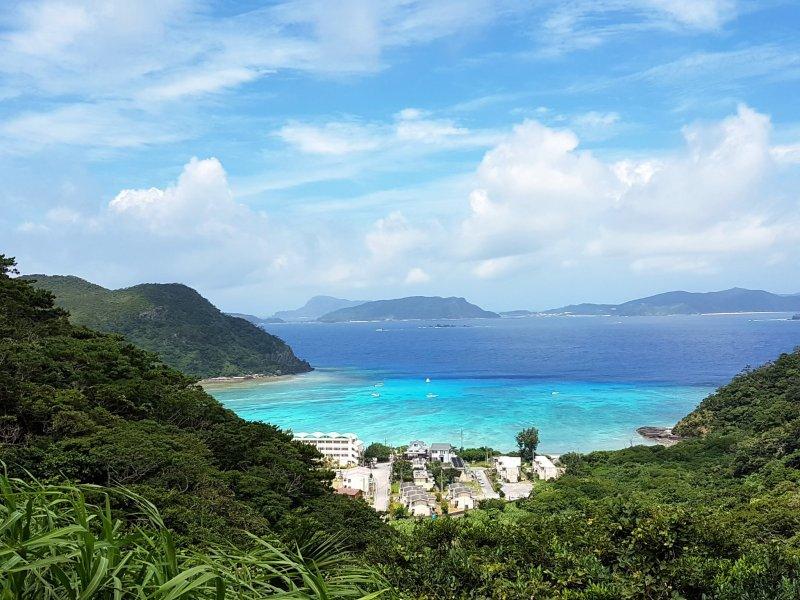 มองจากบนภูเขาหาดโทะคะชิมองดูเหมือนความฝันที่เป็นจริง
