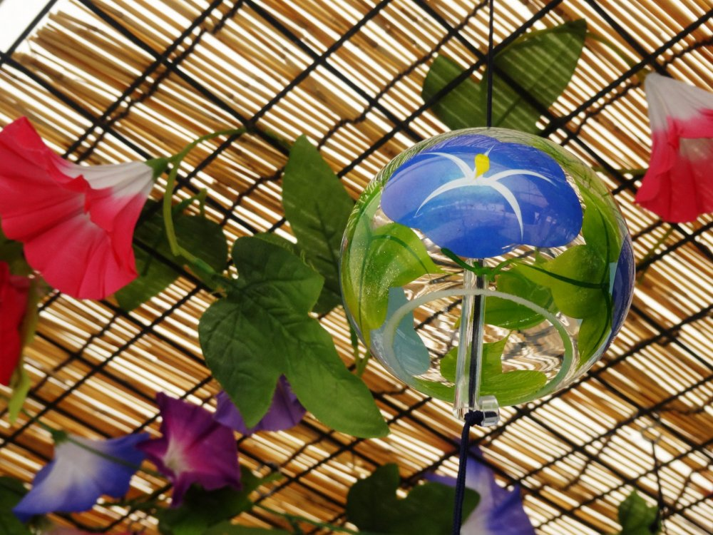 Asagao (morning glories) are a typical summer motif