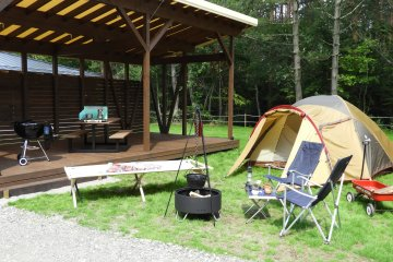 Luxurious tent sites