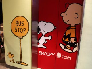 The basement floor is dedicated to Snoopy and friends. Welcome to Snoopy Town!