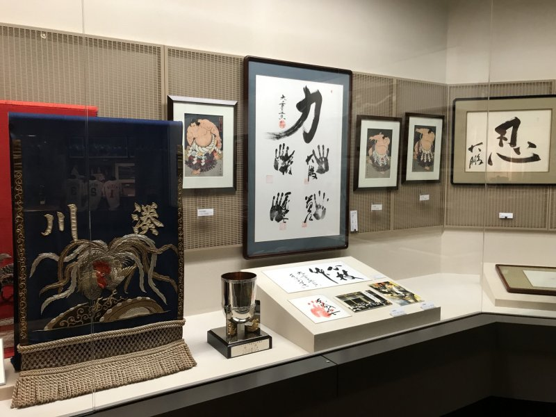 There is a host of sporting memorabilia on display, including Japan's national sport of sumo!