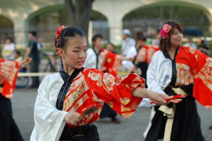 Yosakoi dancer