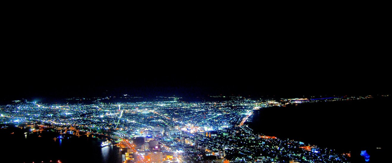 Night scenery viewed from Mount Hakodate