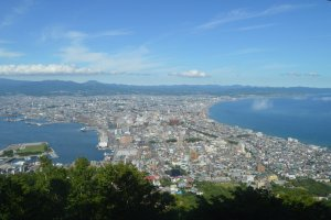 Scenery viewed from Mount Hakodate during the day