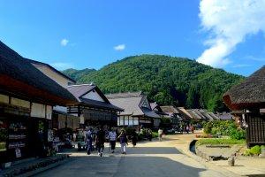 Phong cảnh tại Ōuchi-juku