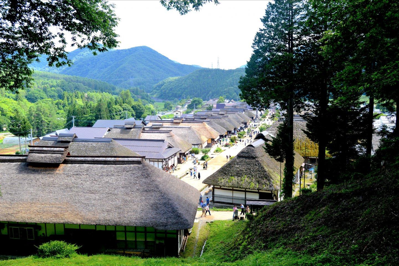 Ōuchi-juku từ trên cao