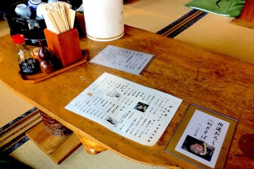 Inside one of the soba restaurants in Ōuchi-juku