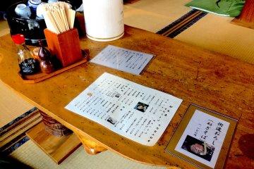 Inside one of the soba restaurants in Ōuchi-juku