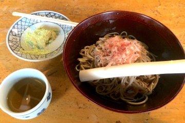 Mochi, soba, and tea