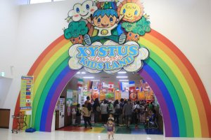 Xystus Kids Land is located on the second floor of the Uruma City Plaza Shopping Mall just down the Street from the San A Main City on Route 85