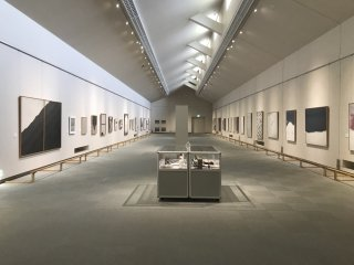The paintings on display depict Japan's snow country, and other snowy spots around the world