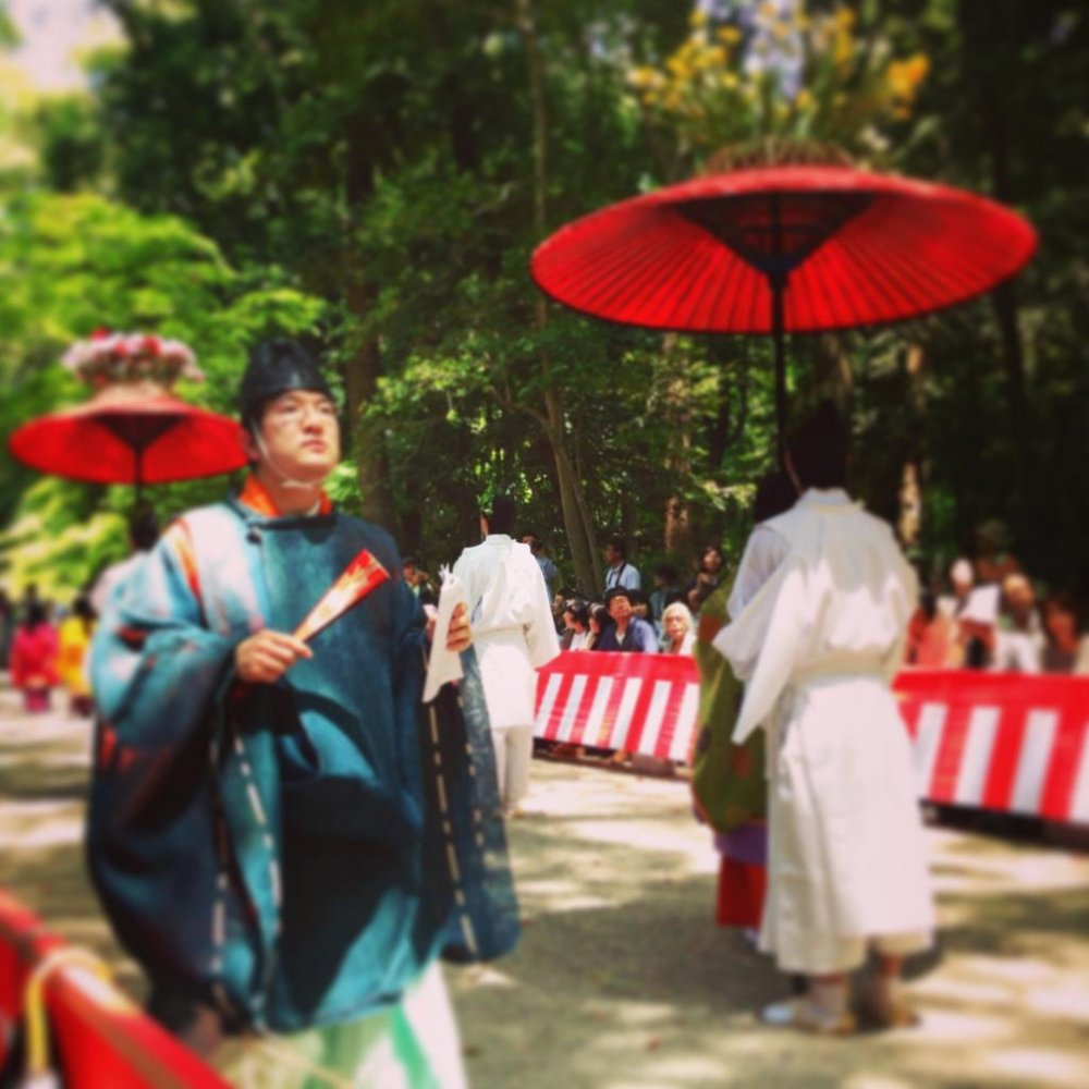 The rebel at Aoi Matsuri an annual parade held on May 15 in Kyoto
