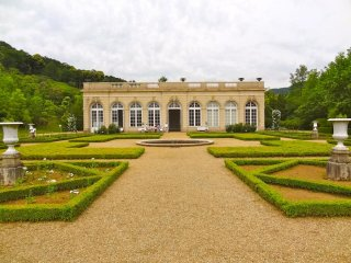 The Orangery is a multi-purpose hall that showcased rose photography during my visit