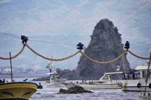 Day one of the Hojo spring festival — trundling juggernauts around Kashima Island
